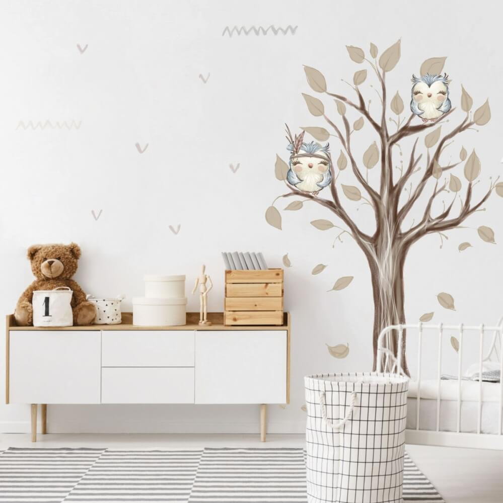 Sticker d'arbre couleurs naturelles